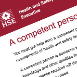 Health and safety executive a competent person